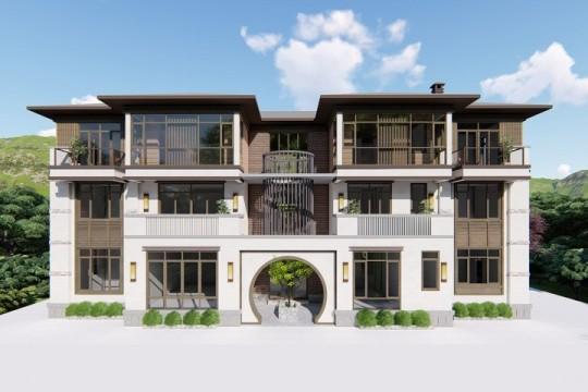 占地25x14三层带露台自建别墅设计全套施工图
