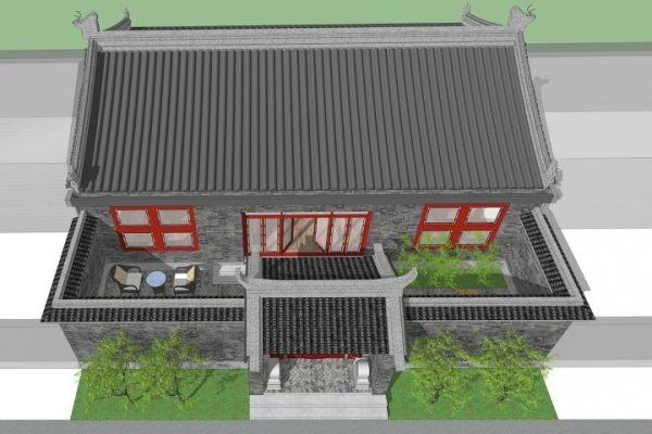 占地14x13一层带庭院自建别墅设计全套施工图