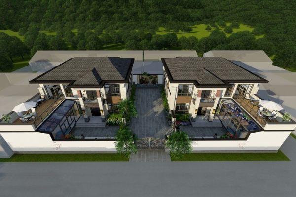 占地14x12二层联排自建别墅设计全套施工图