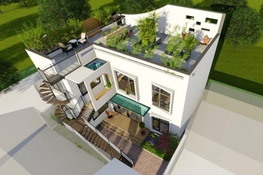 占地13x11二層帶天臺自建別墅設計全套施工圖