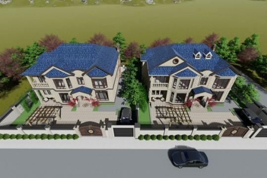 占地16x13二层联排自建别墅设计全套施工图