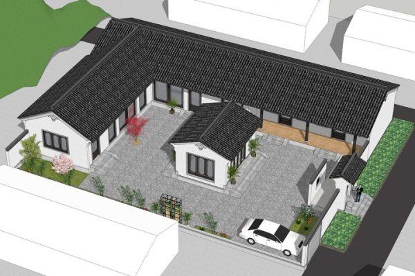 占地26x18一层带庭院自建别墅设计全套施工图