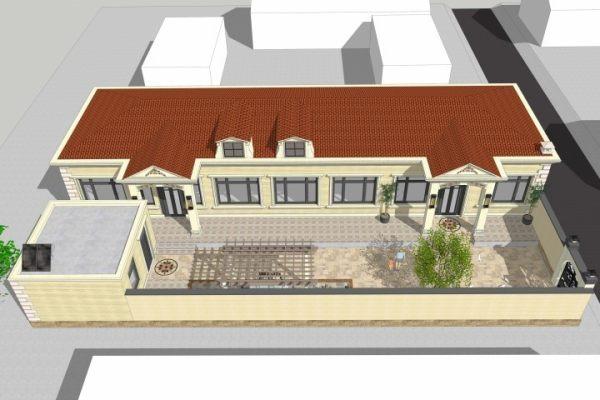 占地26x15一层带庭院自建别墅设计全套施工图