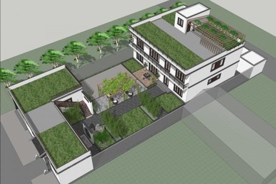 占地19x43二层带庭院露台自建别墅设计全套施工图