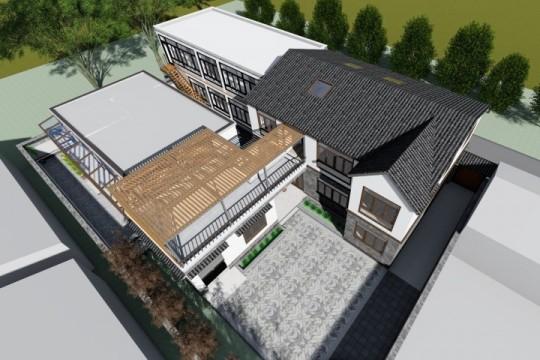 占地31x21三层带庭院自建别墅设计全套施工图
