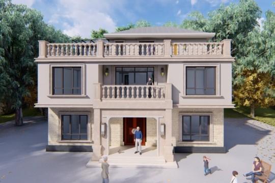 占地13x9二层带天台自建别墅设计全套施工图