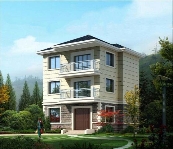 占地9x8三层带露台自建别墅设计全套施工图