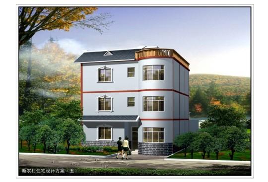 占地11x11三层带天台自建别墅设计全套施工图