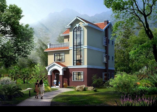 占地9x12三层带露台自建别墅设计全套施工图
