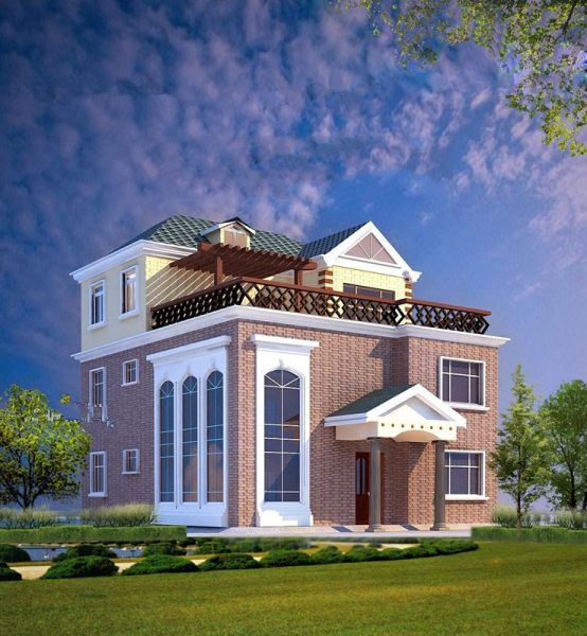 占地11x12三层带露台自建别墅设计全套施工图