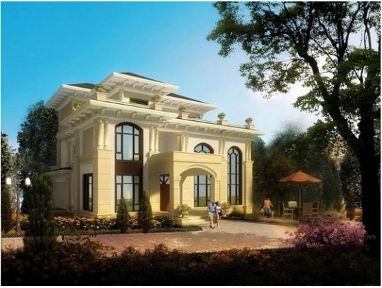 占地18x20三层豪华欧式自建别墅设计全套施工图
