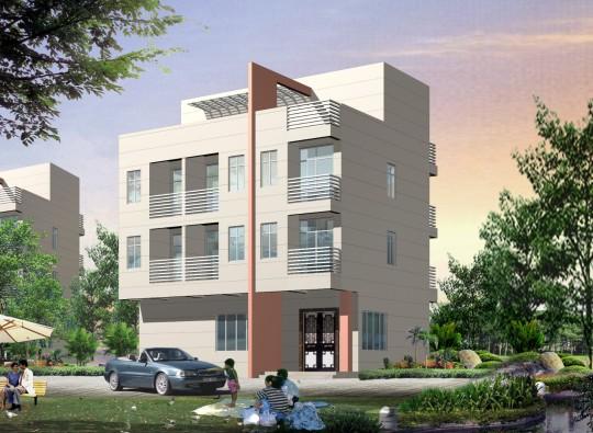 占地12x8四层带露台自建别墅设计全套施工图