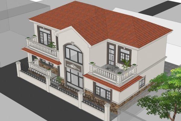 占地16x10二层带庭院露台自建别墅设计全套施工图