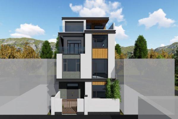 占地8x12四层带露台自建别墅设计全套施工图