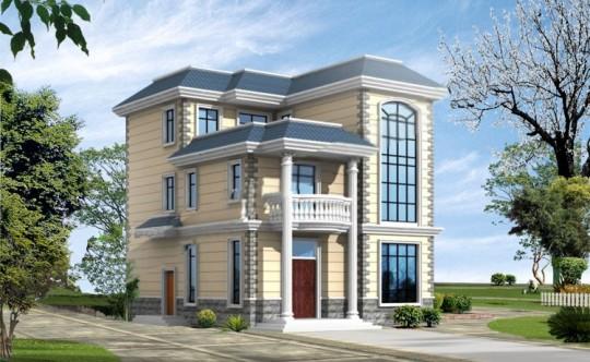 占地15x14三层带庭院自建别墅设计全套施工图