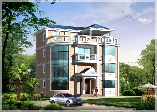 占地12x12四层带露台自建别墅设计全套施工图