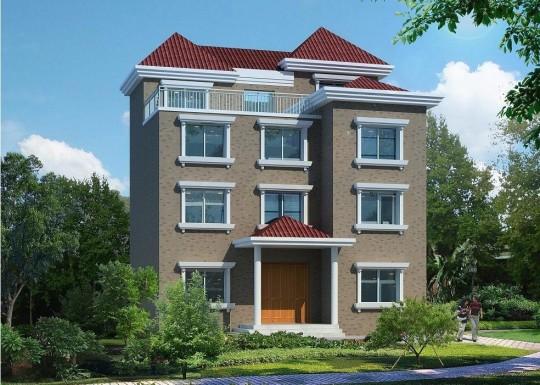 占地11x11四层带庭院露台自建别墅设计全套施工图
