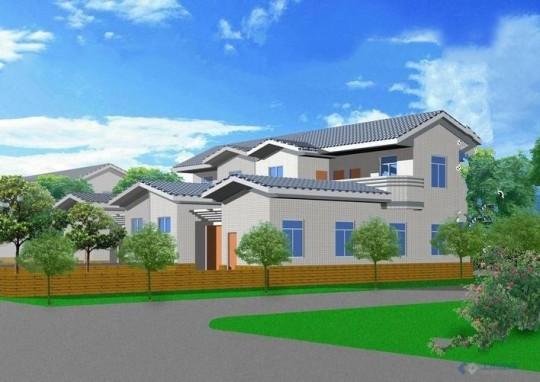 占地9x13二层带庭院自建别墅设计全套施工图