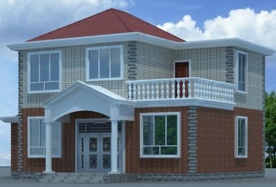 占地15x9二層帶露臺自建別墅設計全套施工圖