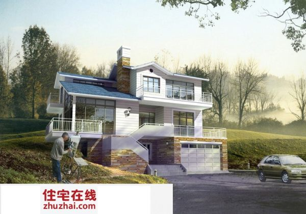 占地18x15三层带露台自建别墅设计全套施工图