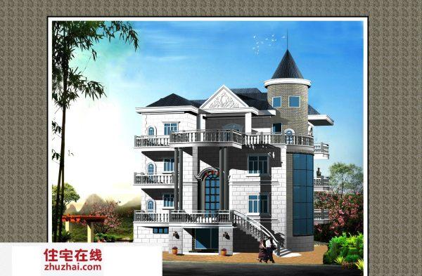 占地16x20四层带架空自建别墅设计全套施工图