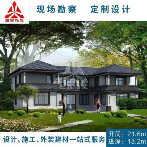 占地22x13二层中式独栋自建别墅设计全套施工图