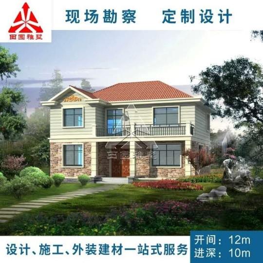 占地12x10二层带阳台自建别墅设计全套施工图