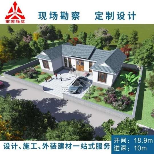 占地19x10一层带庭院自建别墅设计全套施工图