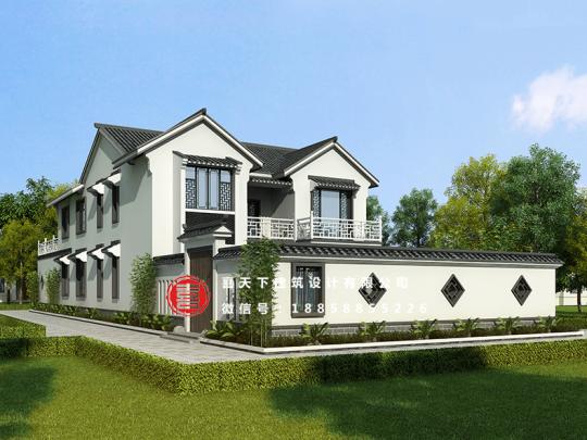 占地13x13二层带庭院自建别墅设计全套施工图