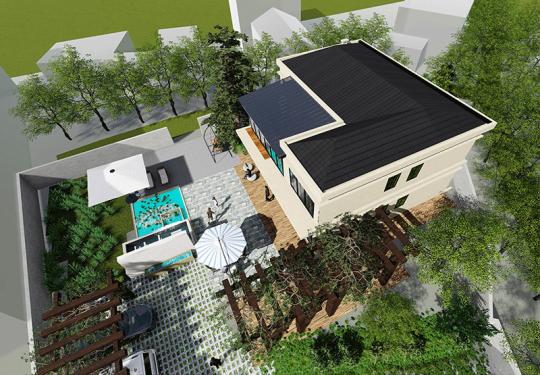 占地12x14二层独栋自建别墅设计全套施工图
