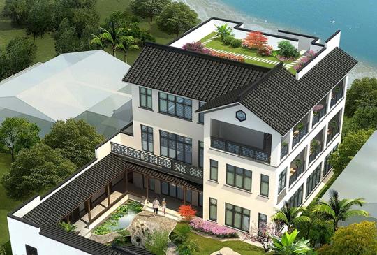 占地23x18三层带庭院自建别墅设计全套施工图