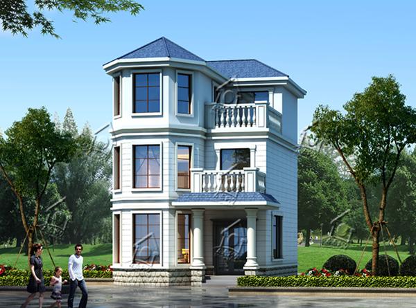占地7x9三层带露台自建别墅设计全套施工图
