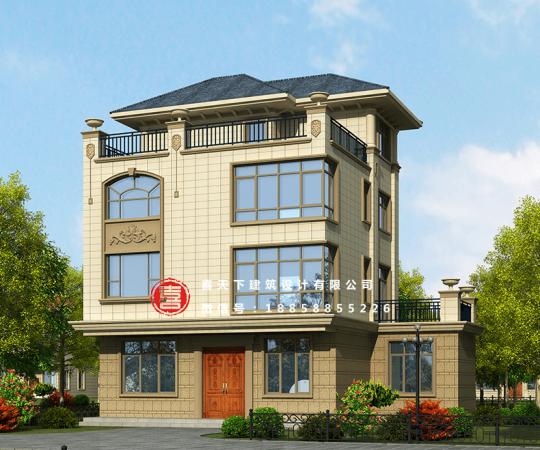 占地10x9四层带露台自建别墅设计全套施工图