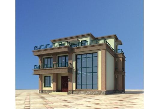 占地12x11三層帶露臺自建別墅設計全套施工圖