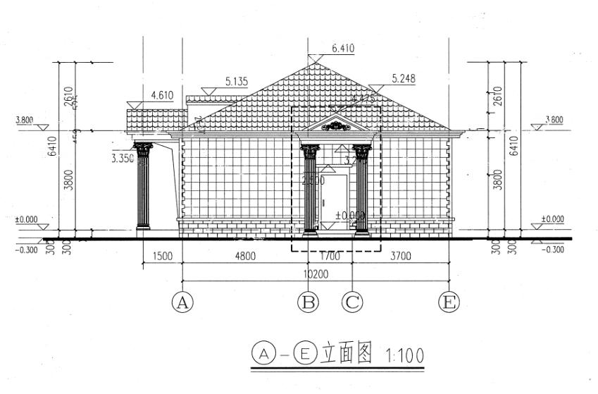 现代一层别墅设计图施工图