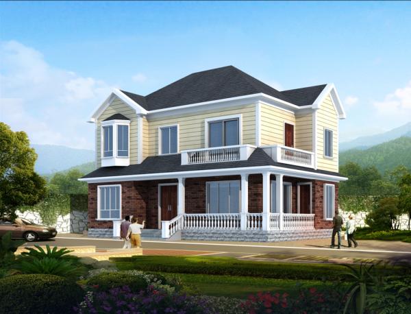 【二層】獨棟自建別墅設計全套施工圖
