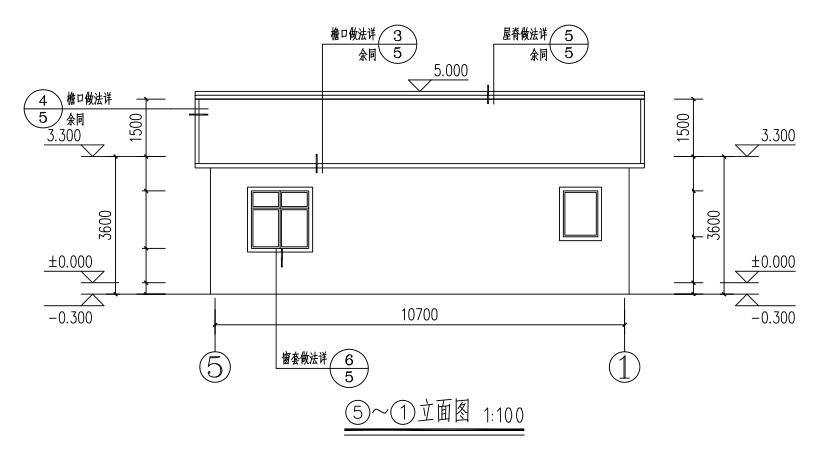 現代一層別墅設計圖施工圖