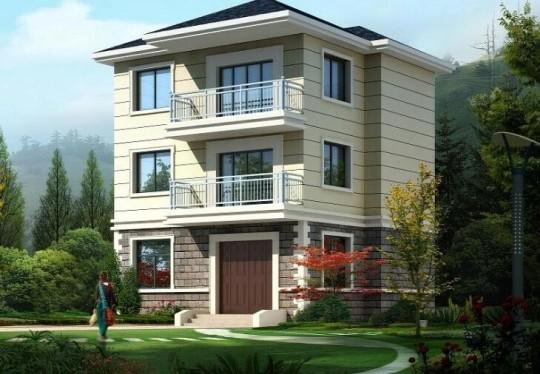 占地9x8三層獨棟自建別墅設計全套施工圖