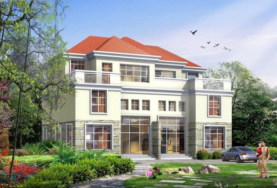 占地16x16三层带露台自建别墅设计全套施工图