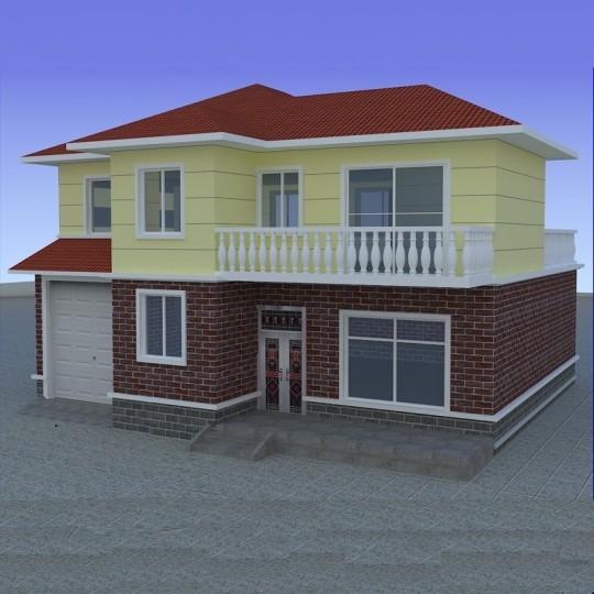 占地12x11二层带车库自建别墅设计全套施工图