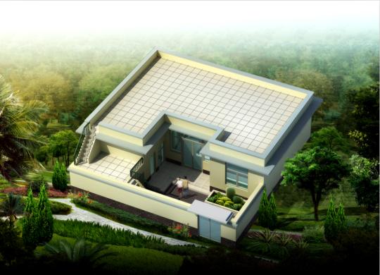 占地11x8一层带庭院自建别墅设计全套施工图