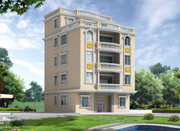占地17x13五层多露台自建别墅设计全套施工图