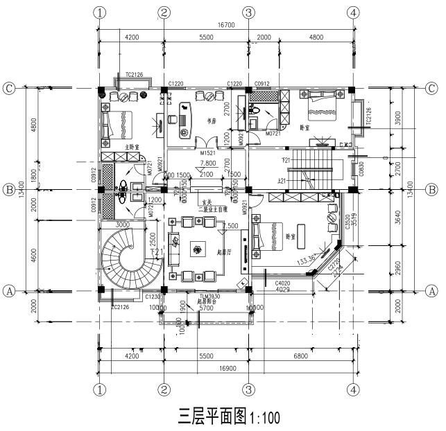 現代五層別墅設計圖平面圖
