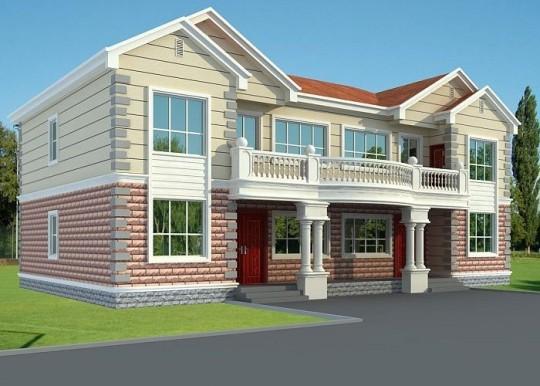 【二层】双拼带露台自建别墅设计全套施工图