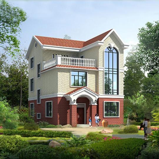【三层】带露台自建别墅设计全套施工图
