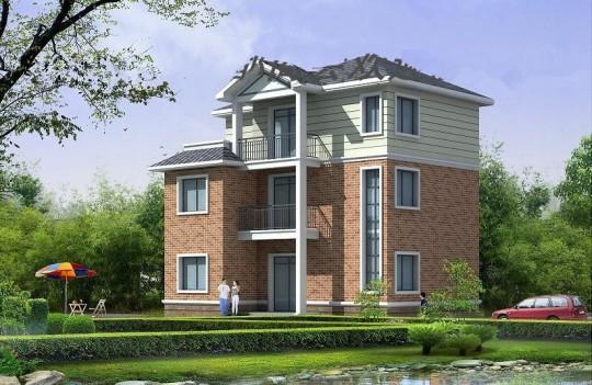 占地11x9三层带露台自建别墅设计全套施工图