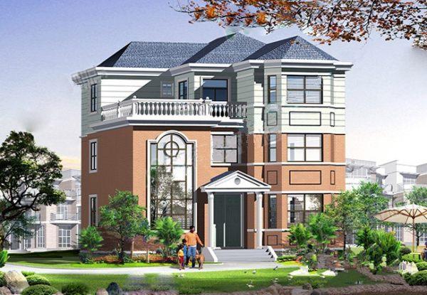 【三层】复式带露台自建别墅设计全套施工图