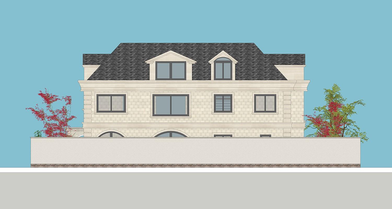 歐式三層別墅設計圖施工圖