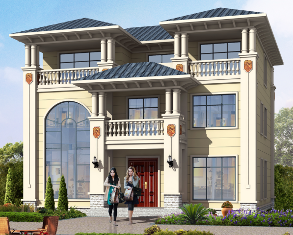 占地13x13三层独栋自建别墅设计全套施工图