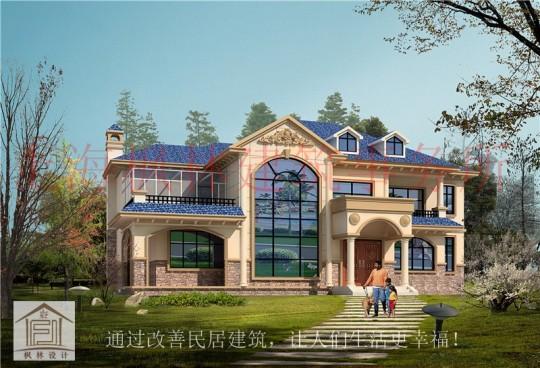 占地20x14二层挑空带露台自建别墅设计全套施工图